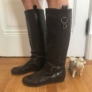 Dior Knee High Riding Boots